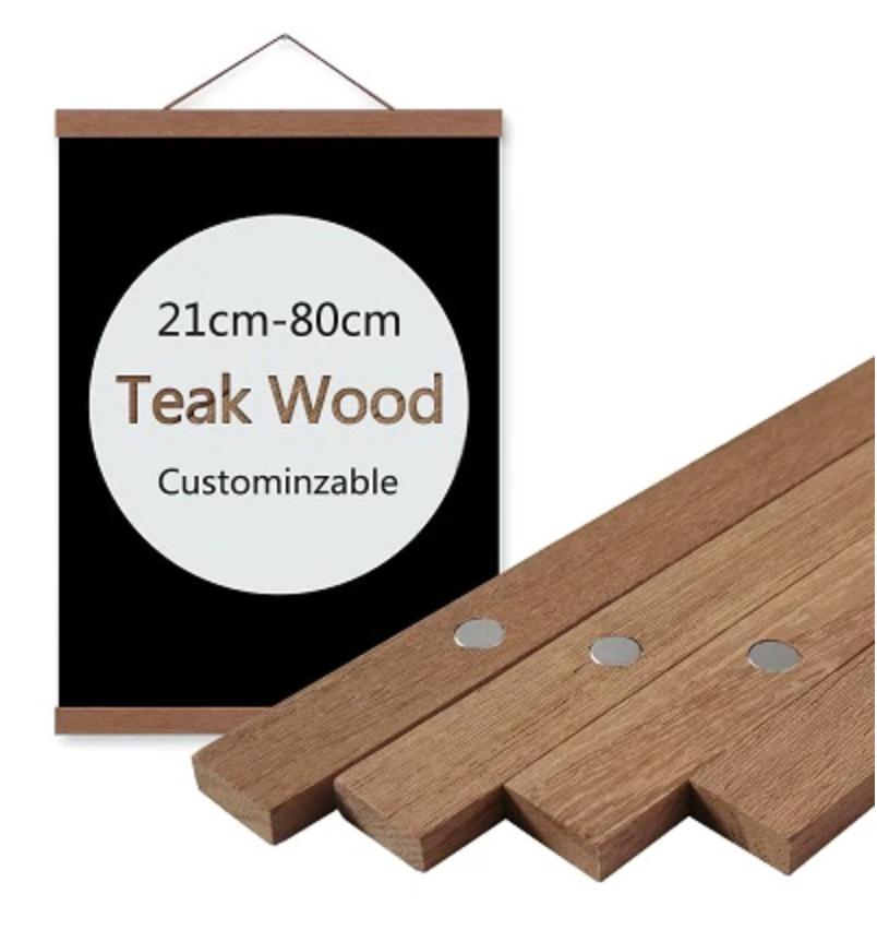 Teak Wood Magnetic Poster Frame